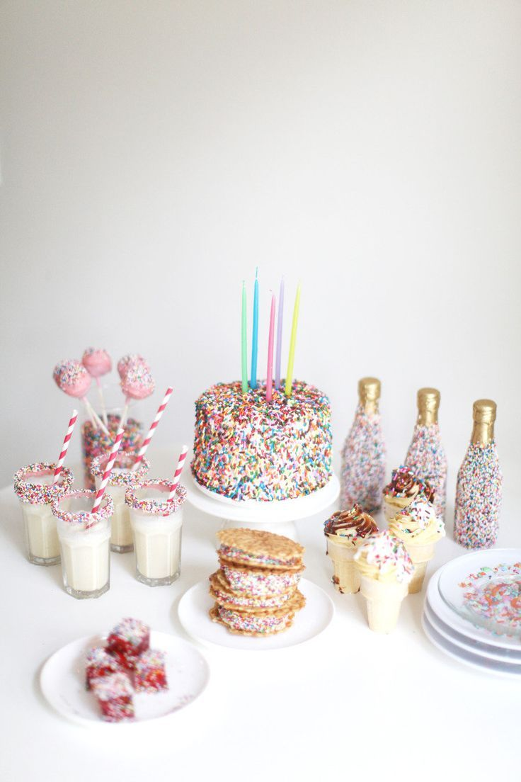 All the fixins' you need for your very own sprinkle party | Style Me Pretty Living | http://www.smpliving.com