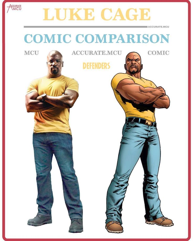 """20.4k Likes, 134 Comments - • Accurate.MCU • mcu fanpage (@accurate.mcu) on Instagram: """"• LUKE CAGE - COMIC COMPARISON • Finally did Luke Cage with his everyday clothes. Seeing Luke with…"""""""