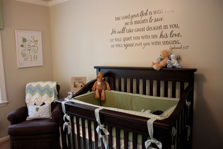 I Just Love This Bible Verse Wall Decal To Hang Above A Crib Fabulous Idea Baby Boy S