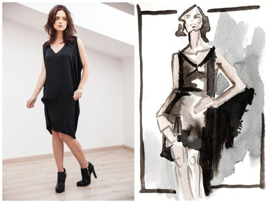 Elena Ciuprina  fashion illustration  Available on http://elenaciuprina.com/collections/all