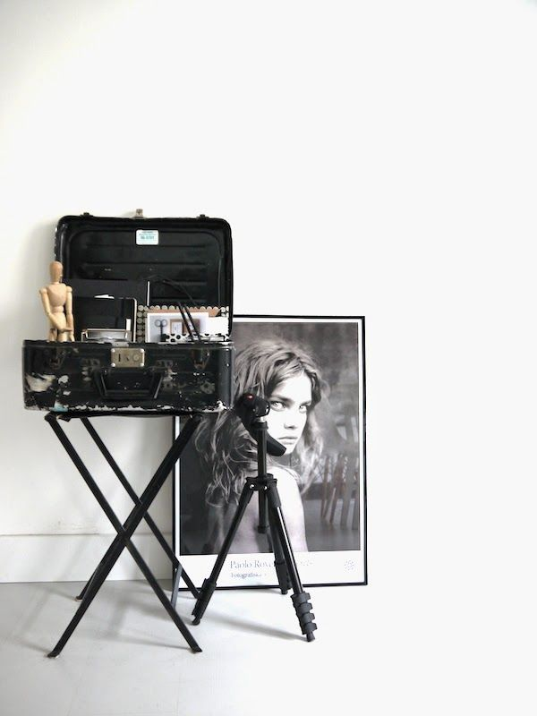 Workspace inspiration | Little black suitcase crush