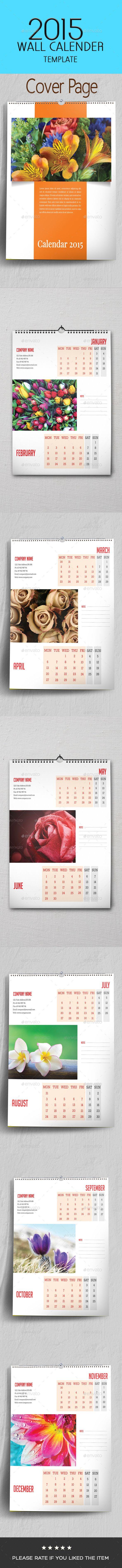 2015 Multipurpose Wall Calendar Template - Calendars Stationery