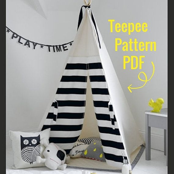 Teepee Pattern - PDF - Tipi Sewing pattern - Wigwam - Toy Pattern - INSTANT DOWNLOAD