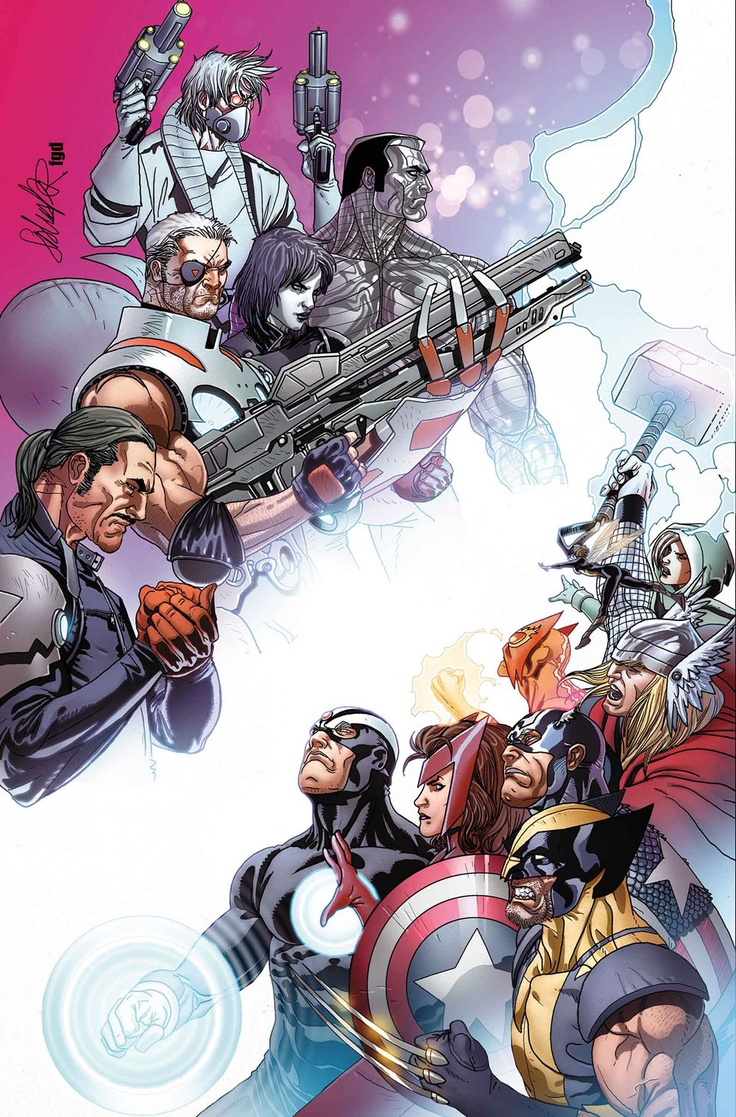 Cable, Forge, Wolverine...etc. °¥° http://www.blogcdn.com/www.comicsalliance.com/media/2013/04/cablexf2012010cov.jpg