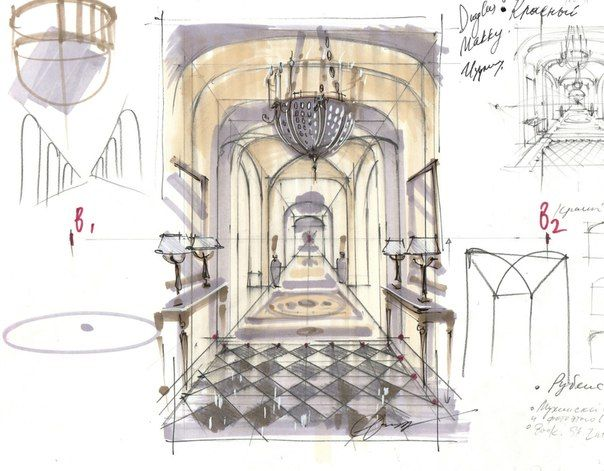 141 best my interior sketches images on pinterest for Interior design drawing tips