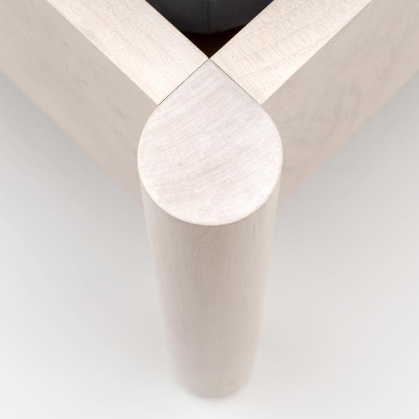 Fine furniture design project - Lion Bed - Produced is solid hardwood timber, Maple- featuring subtle woodworking details - Scott Jarvie - Glasgow, Scotland