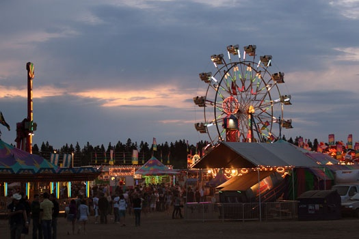 The Kinsmen Rainmaker Rodeo is a fun annual event that takes place in St. Albert every year.  2014 will mark the rodeo's 50th anniversary.  Proceeds from the rodeo support the St. Albert Kinsmen Club, a local community service group - http://www.stalbertkinsmen.ca/