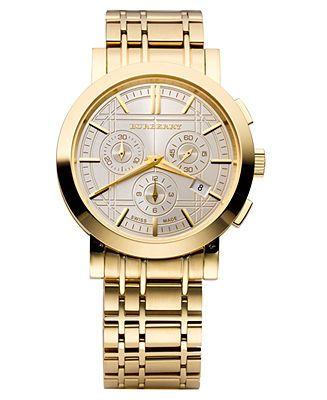 Burberry Men's Gold Watch