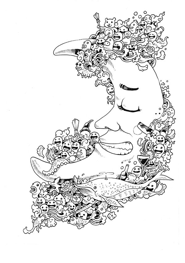 Doodle Invasion Coloring Book On Behance
