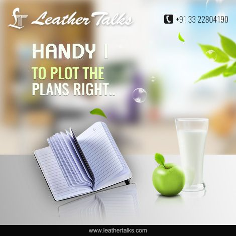 The portable note book from Leather Talks not only promises to make your office work easy but also adds sheen to your corporate looks. The tan colored leather body with black border makes the note book look classy and corporate.  http://leathertalks.com/product/handy-7/