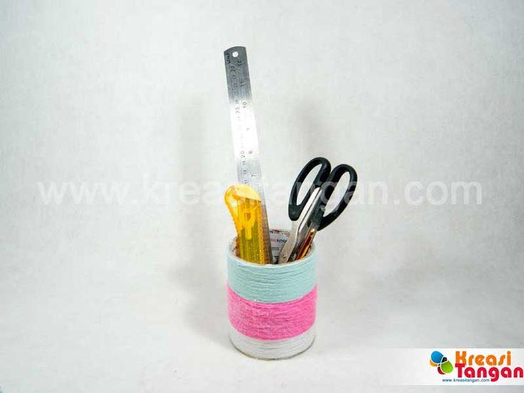 Membuat Tempat Pensil Dari Barang Bekas