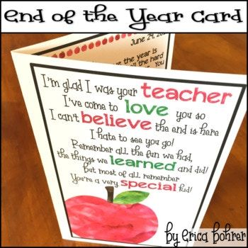 End of the Year Thank You Card
