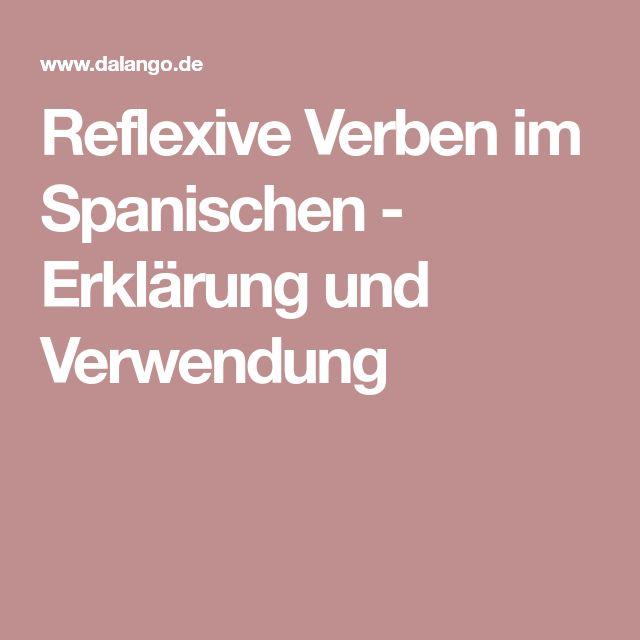 Reflexive Verben im Spanischen - Erklärung und Verwendung