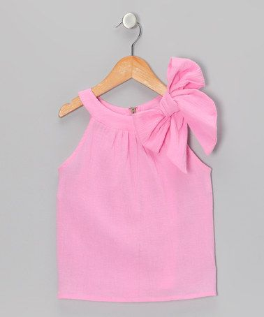 Take a look at this Pink Bow Top - Toddler & Girls by Addie & Ella on #zulily today!