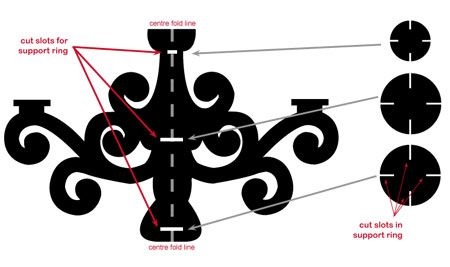 PRINCIPAL Dzine Craft Ideas | Faça um lustre de papelão
