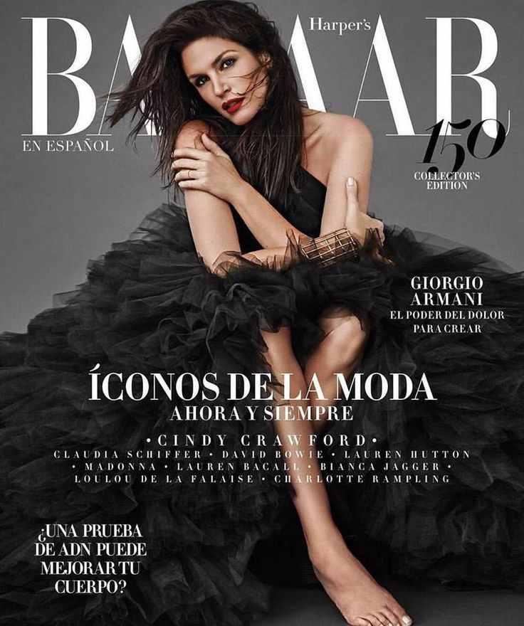 Cindy Crawford for Harper's Bazaar En Español November 2017 | Art8amby's Blog
