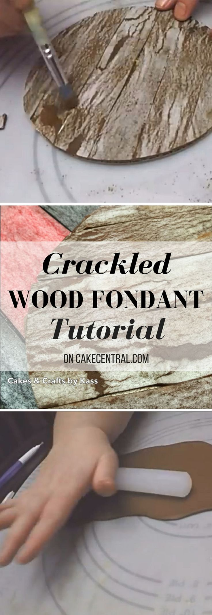 I this video I will show you how to create a realistic, textured, easy weathered fondant technique using wafer paper.