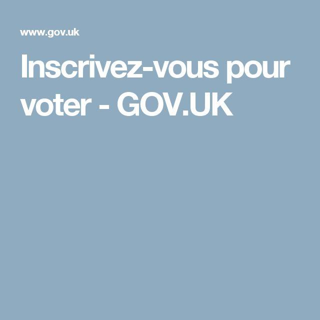 Inscrivez-vous pour voter - GOV.UK
