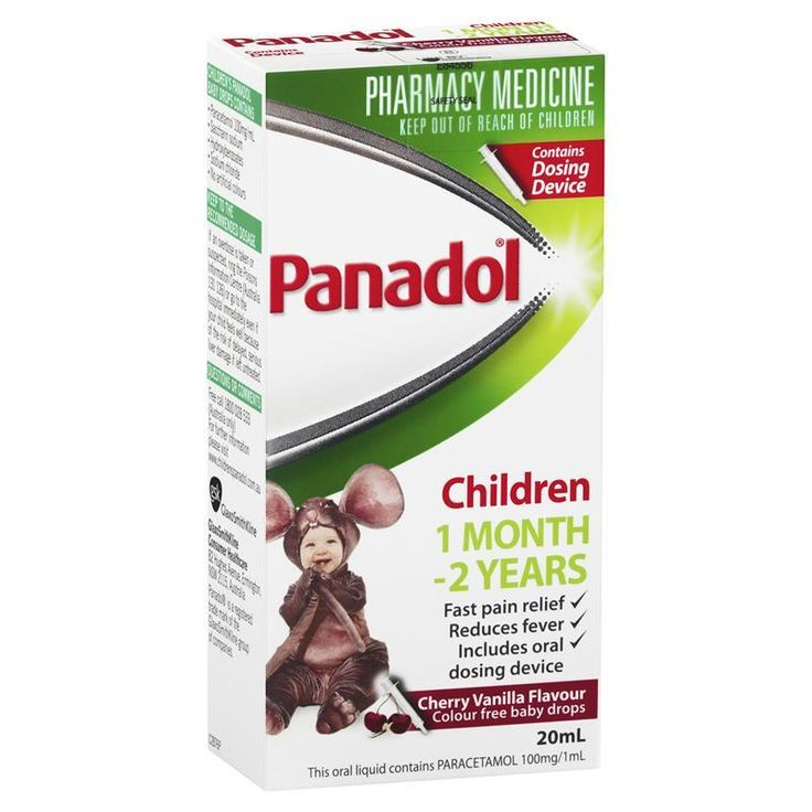 Buy Panadol Children's Colourfree Baby Drops with Oral Dose Device Syringe 20mL Online at Chemist Warehouse®