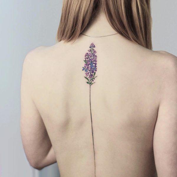 Floral, flower, back tattoo on TattooChief.com