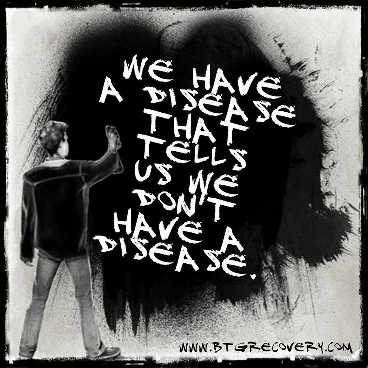"""""""We have a disease that tells us we don't have a disease."""" Art by Alexis Barringer"""