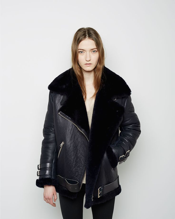 Best 25  Shearling jacket ideas on Pinterest | Acne leather jacket ...