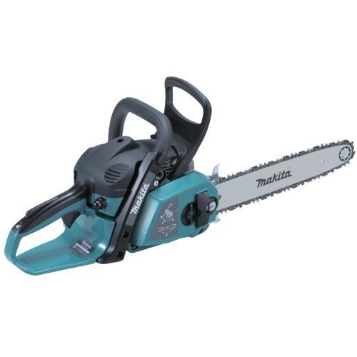 This Makita Chainsaw model number EA3201S35B, has a 35cc 2 stroke engine and a 35cm bar which should be ample for chopping most logs to size and other garden tasks you might have to do!