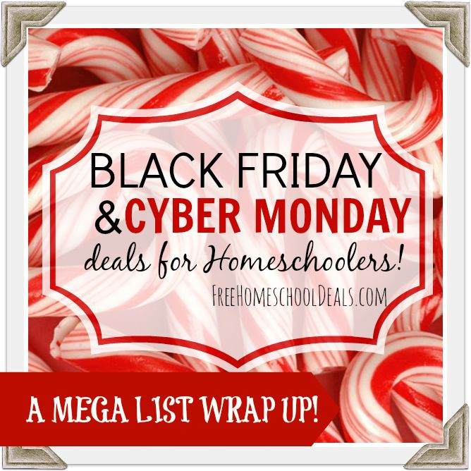 97 best homeschool deals limited time images on pinterest black friday cyber monday deals for homeschoolers mega list round fandeluxe Image collections