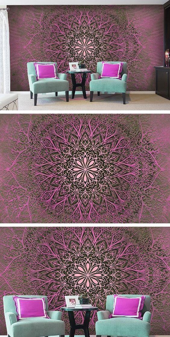 Vlies Fototapete 350x245 cm - 3 Farben zur Auswahl - Top Tapete Wandbilder XXL Wandbild Bild Fototapeten Tapeten Wandtapete Ornament Abstrakt f-A-0491-a-d