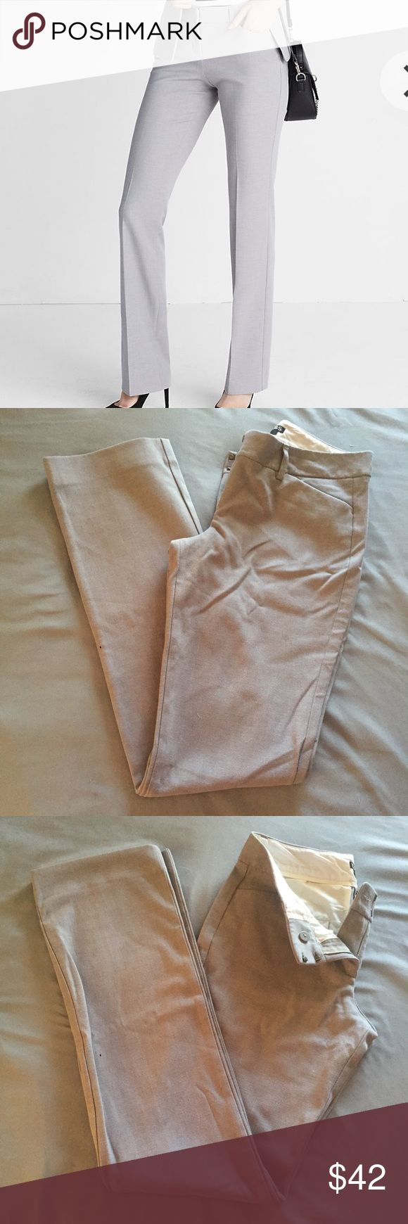 Express Editor Pants like new condition. same color and fit as picture. color is: muted stone. Express Pants Trousers