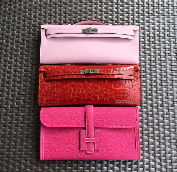 Hermes Kelly Cut and Jige Clutch