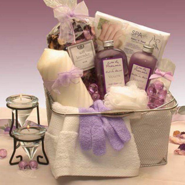 Bath & Body Spa Caddy Gift Basket
