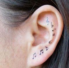 Tatuagens inspiradas em notas musicais