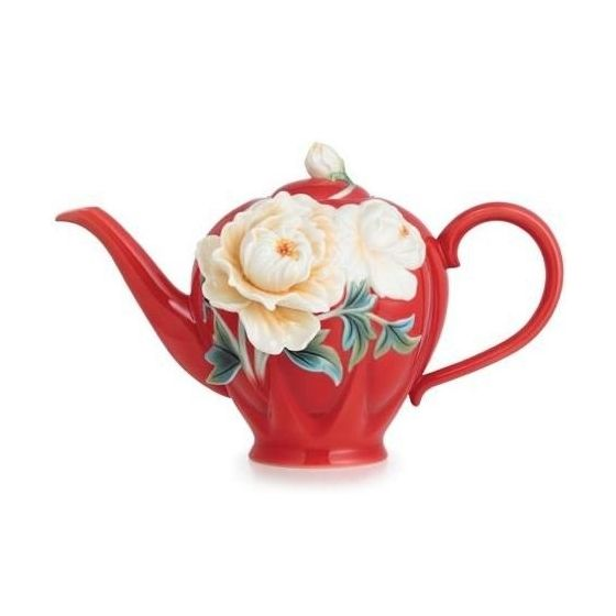 Venice Peony Teapot | Porcelain | Franz Collection