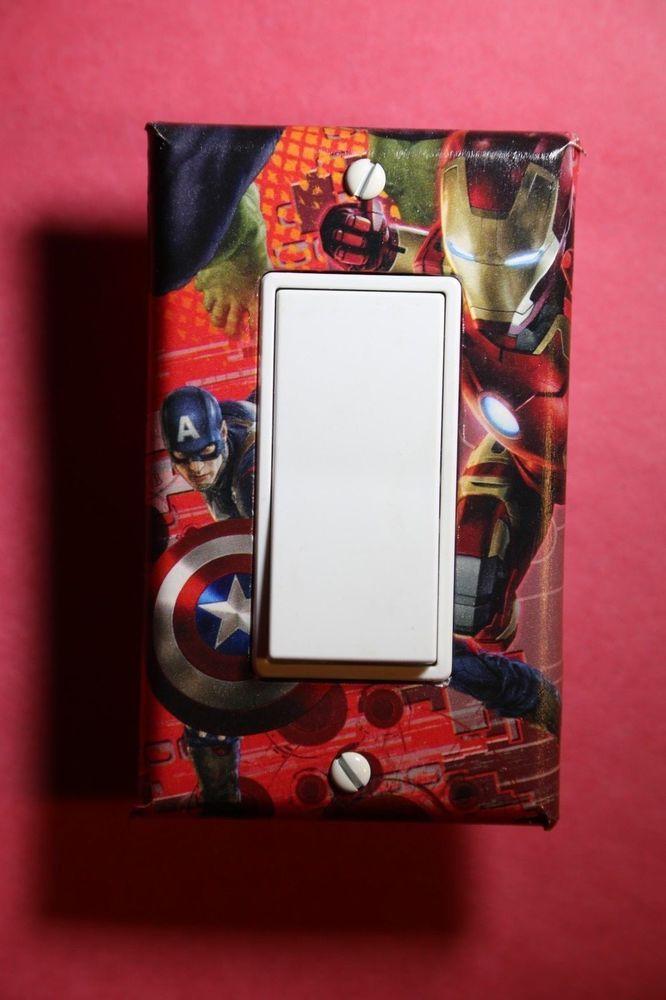 avengers iron man captain america light switch cover comic superhero