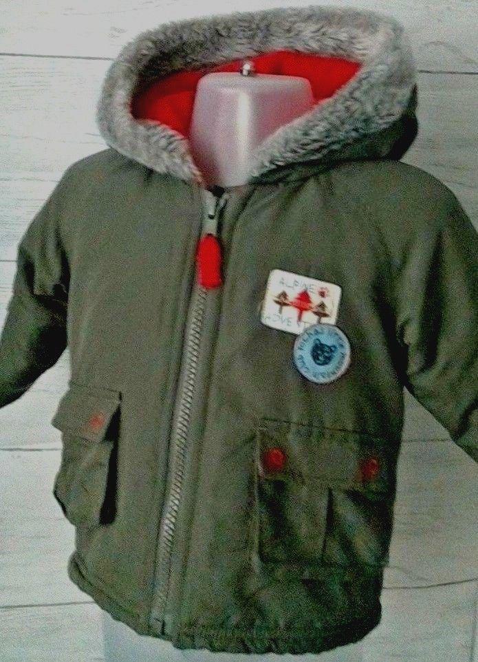 f32194704989 Baby Boys Rocha Little Rocha Hooded Coat with Fleece Lining 3-6 months   RochalittleRocha  Coat