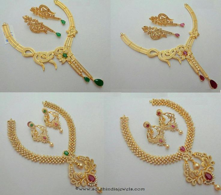 Fancy American Diamond Necklace sets from SIIMA Jewels