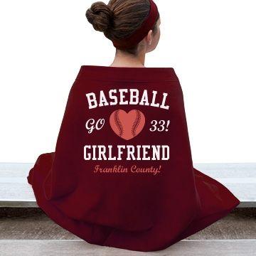 Baseball Girlfriend  Gildan Dryblend Stadium Blanket #baseball #customblanket