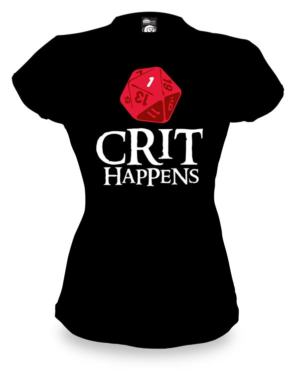 Crit Happens: Ominous Red, T Shirt, Fashionably Geek, Number One