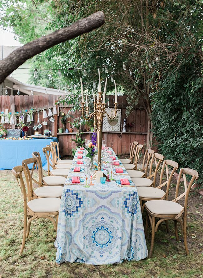 Colorful Backyard Baby Shower