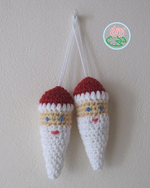 Easy Christmas Amigurumi : Ravelry amigurumi santa claus ornament pattern by tamara