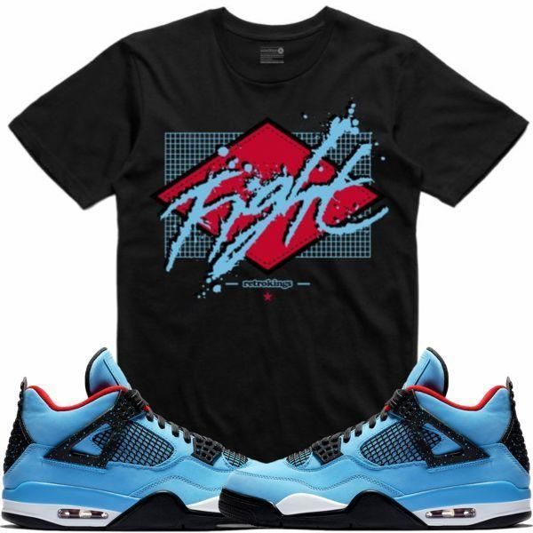 585c71adca5c Sneaker Tees to match the Jordan 4s Travis Scott Cactus Jack shoes by Retro  Kings Clothing is available on our online store.