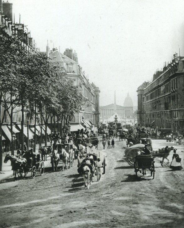 La rue Royale, vers 1860-1870, il y a 150 ans! Une photo de Ferrier et Soulier (Paris 8ème)