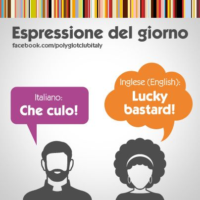 Learning Italian Language ~ English / Italian idiom: Lucky bastard!