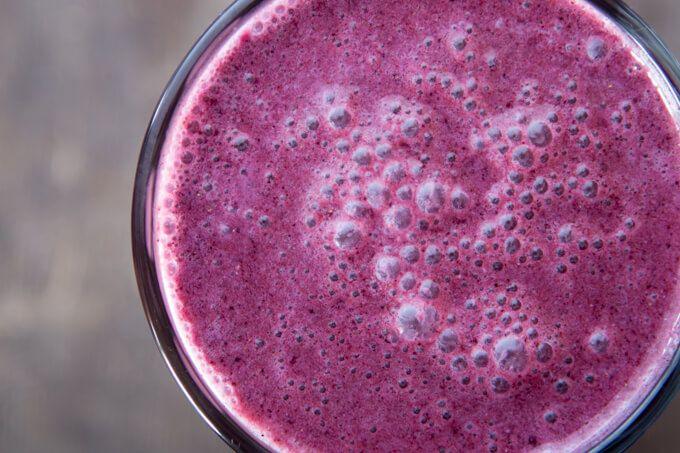 THM: Blueberry Protein Smoothie Thermomix