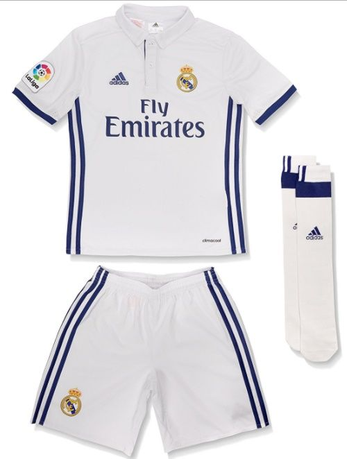 2016-2017 Real Madrid Home kids with socks