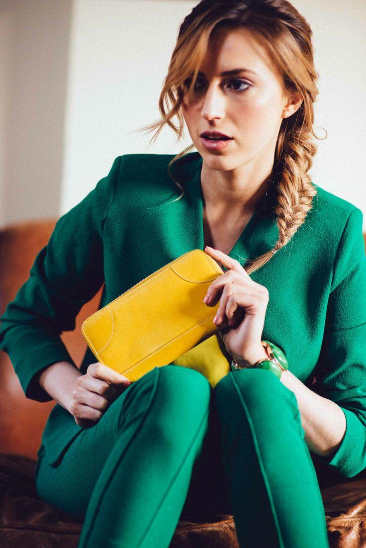 Yellow Leather Wallet www.bettyandbetts.com