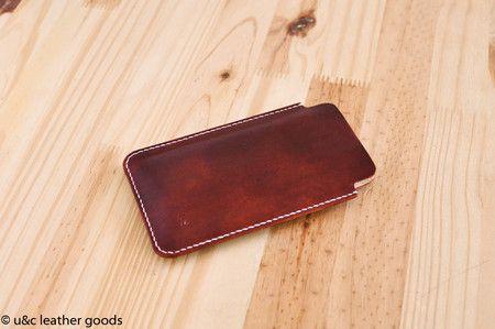 Capa de couro para iPhone ou Smartphones (1A523B)