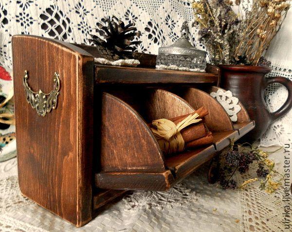 """Купить Мини комодик """"Любимый"""" - коричневый, мини комод, комодик, комод, чайный домик, для чая"""
