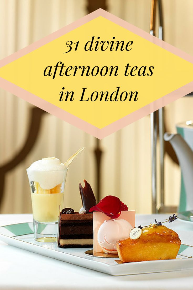 Afternoon tea, because you're fancy. Here's where to try: http://www.timeout.com/london/food-drink/afternoon-teas-in-london